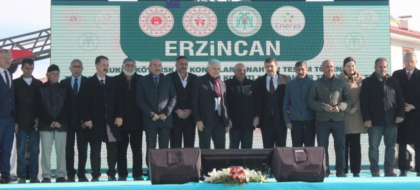 Erzincan Merkez Uluköy Köyü ve Tercan İlçesi Kalecik Köyü İskân Konutları Anahtar Teslim Töreni