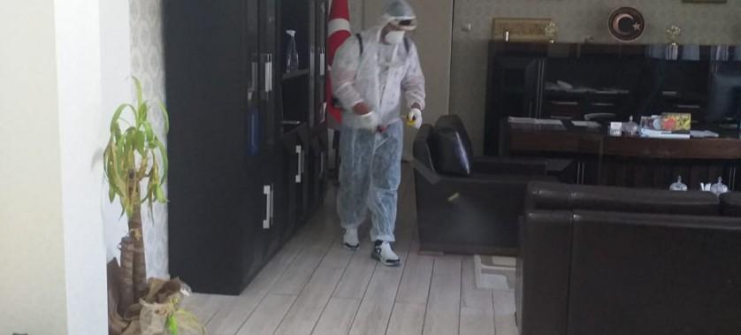 İl Müdürlüğümüz Hizmet Binasında Dezenfekte Çalışmaları