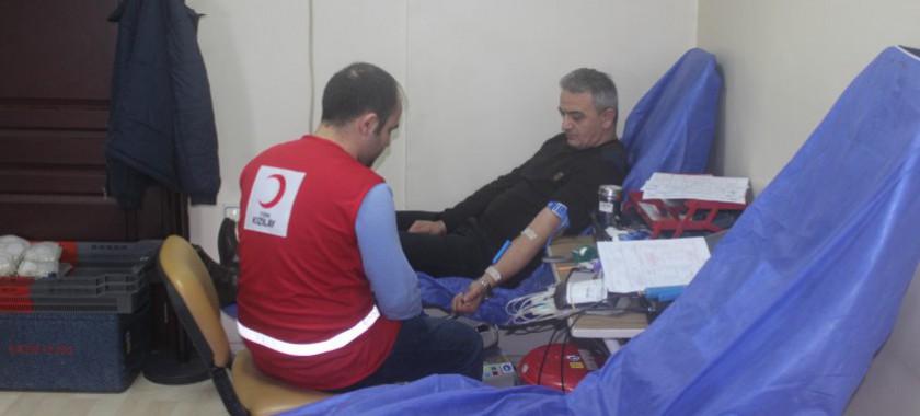 İl Müdürlüğümüzden Türk Kızılay'ı Kan Bağışı Kampanyasına Destek
