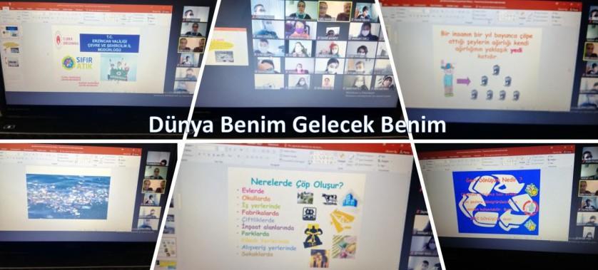 İlimiz Melikşah Gazi ve Zeynep Mustafa Han İlkokullarına Online Geri Dönüşüm Eğitimi Verildi