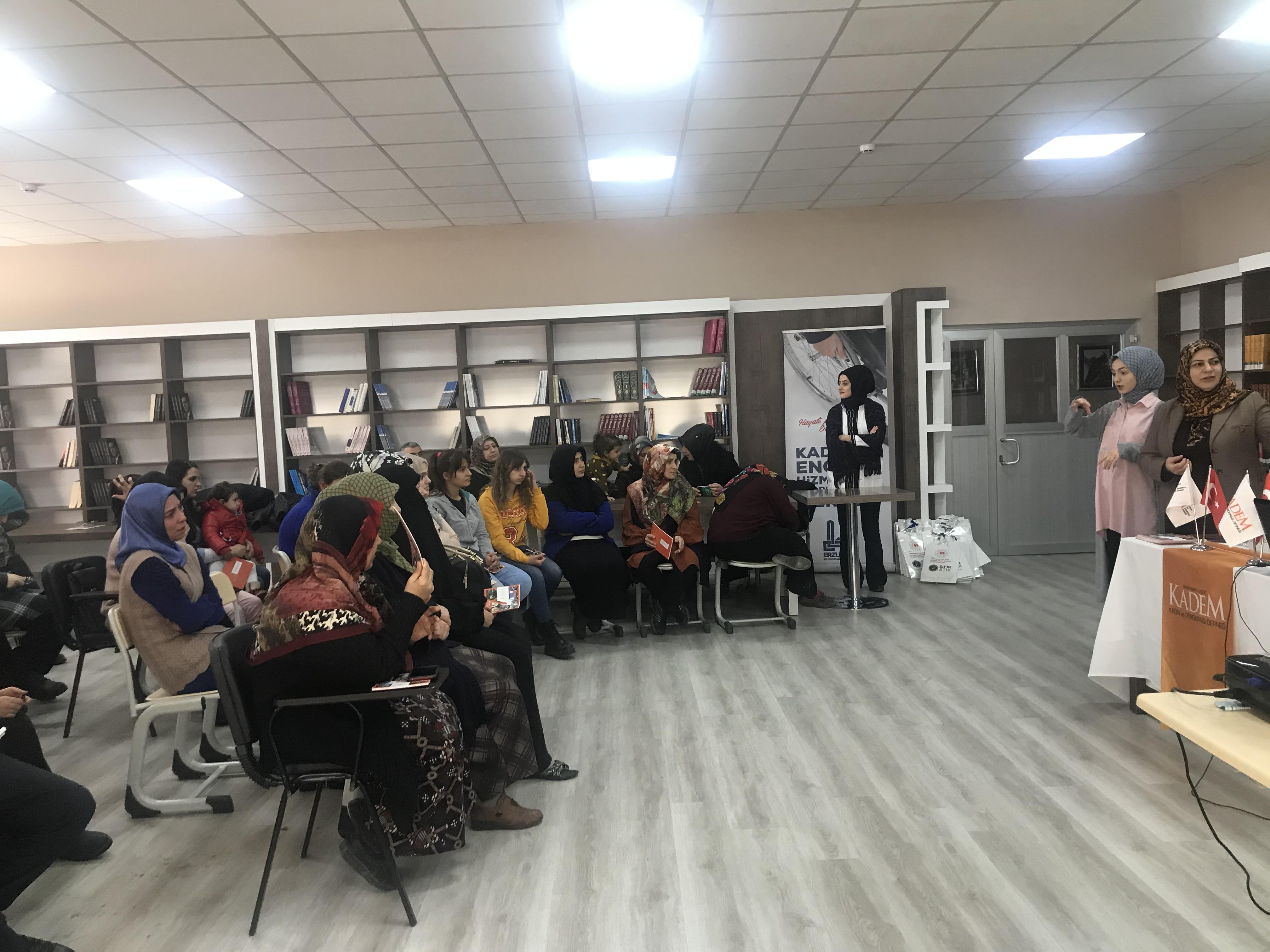 Kadın ve Engelli Koordinasyon Merkezinde Sıfır Atık Eğitimi Yapıldı