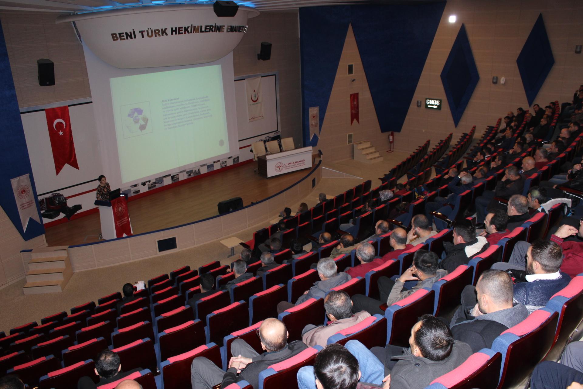 Tıbbi Atıkların Kontrolü Yönetmeliği Yerel Eğitim Programı düzenlendi.