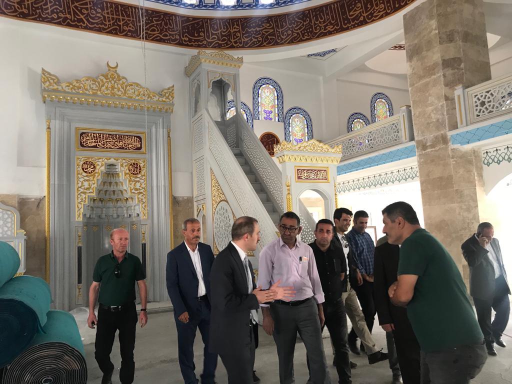 Hakkari İli Merkez İlçesinde yapımı devam eden Ulu Camii İnşaatı İncelemeleri
