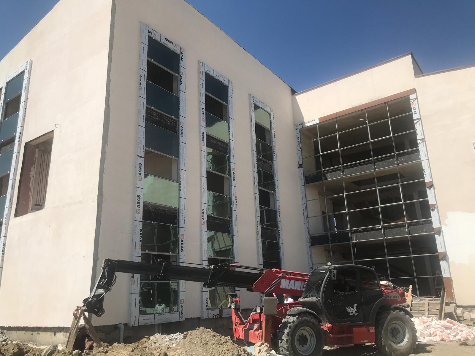 Hakkari İli Yüksekova İlçesinde yapımı devam eden İnşaat İncelemeleri