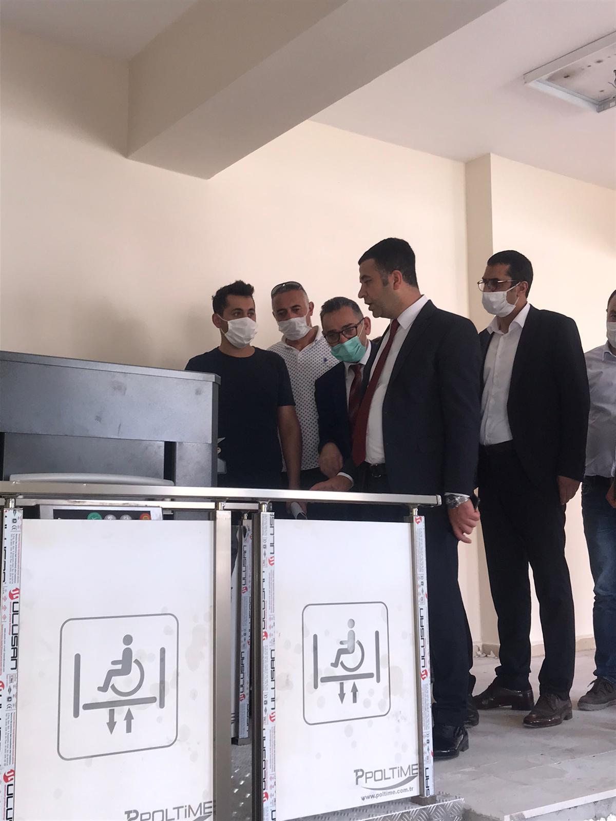 Hakkari İli Merkez İlçesinde yapımı devam eden Atatürk Kültür Merkezi Güçlendirme ve Onarım İncelemeleri