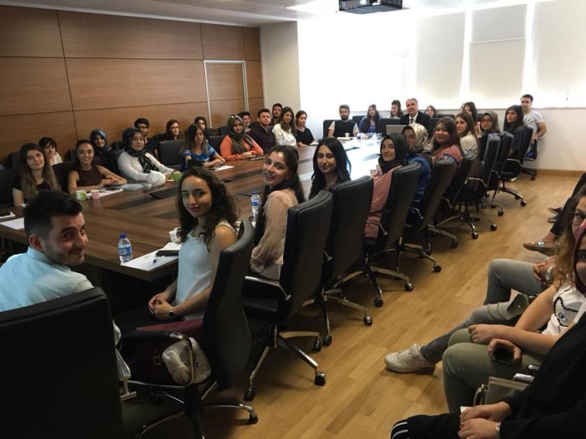 Bakanlığımız İç Denetim Başkanı Ahmet SANDAL tarafından Bakanlığımızın Stajyer Öğrencilerine yönelik