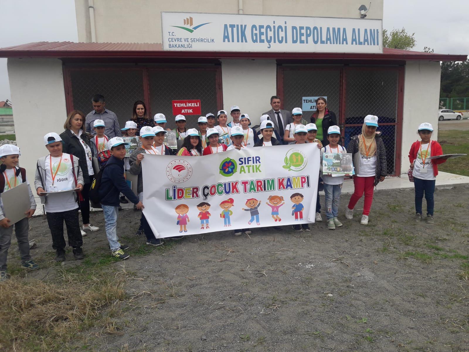 Lider Çocuk Tarım Kampından Müdürlüğümüze ziyaret