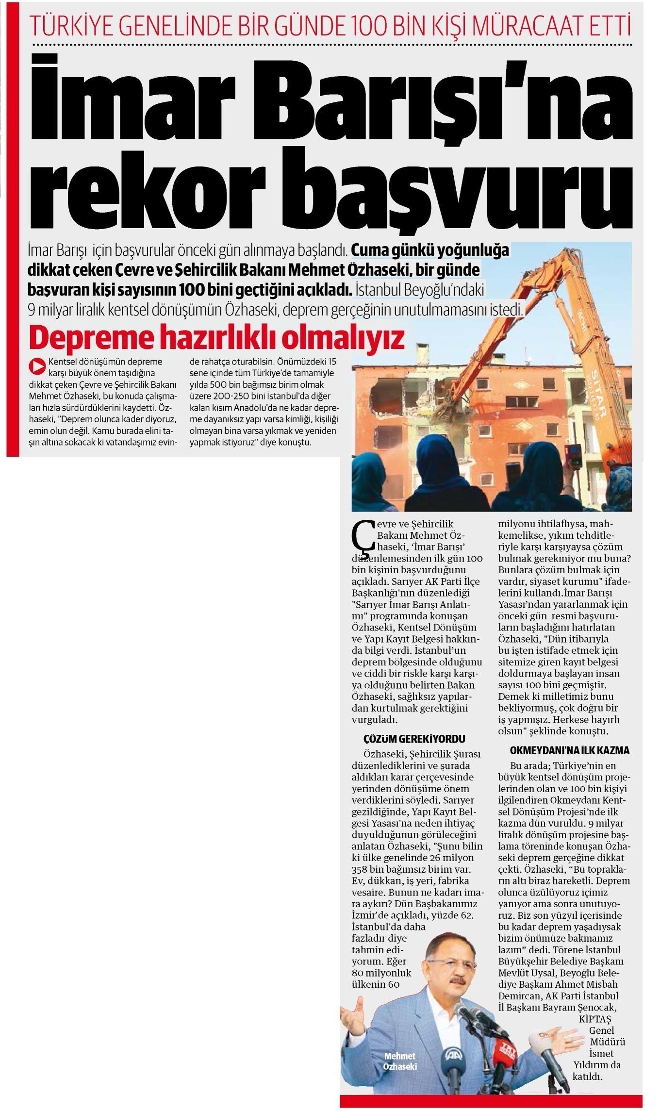 YENİ ŞAFAK 11 HAZİRAN