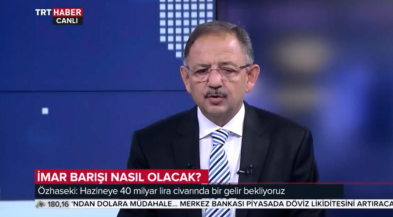 Bakan Özhaseki'nin TRT Haber Özel Röportajı 'Bölüm1'