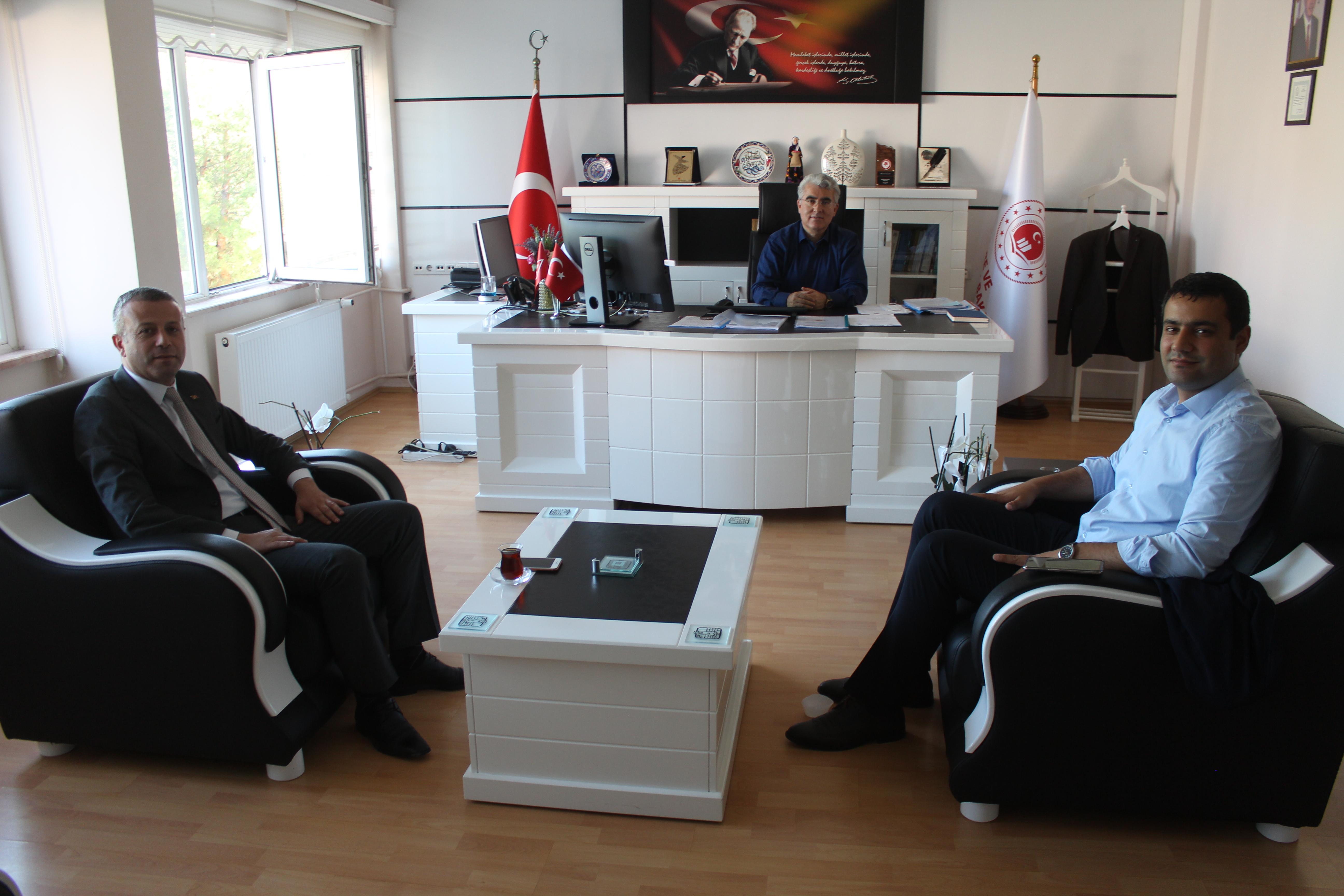 Uluborlu Kaymakamı Müdürlüğümüze veda ziyaretinde bulundu.
