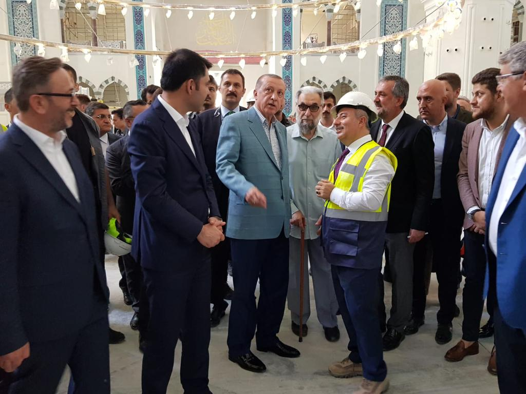 Cumhurbaşkanımız Recep Tayyip Erdoğan'ın Çamlıca Camii Ziyareti