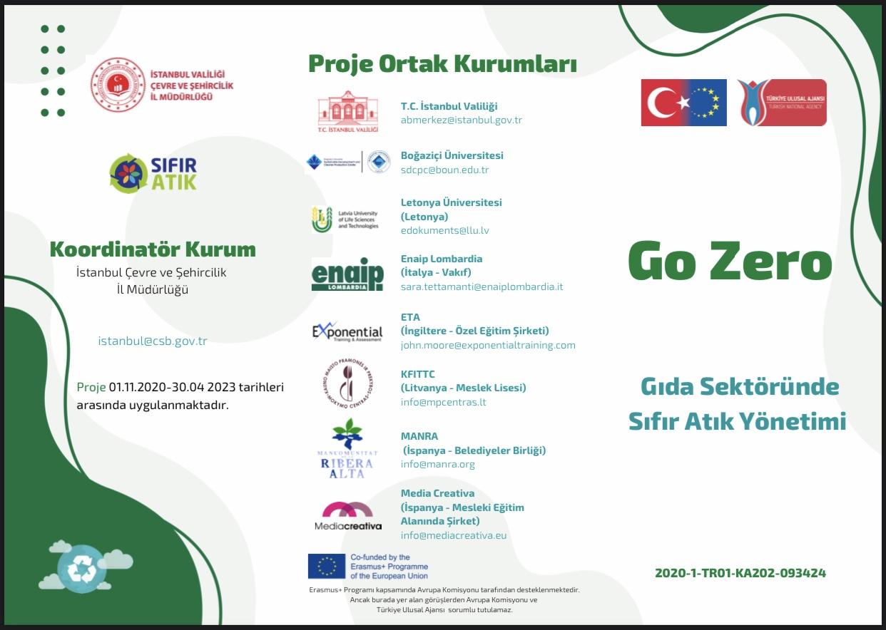 """""""GO ZERO-ZERO WASTE MANAGEMENT IN FOOD SECTOR"""" projemiz Dışişleri Bakanlığı Avrupa Birliği Başkanlığınca…"""