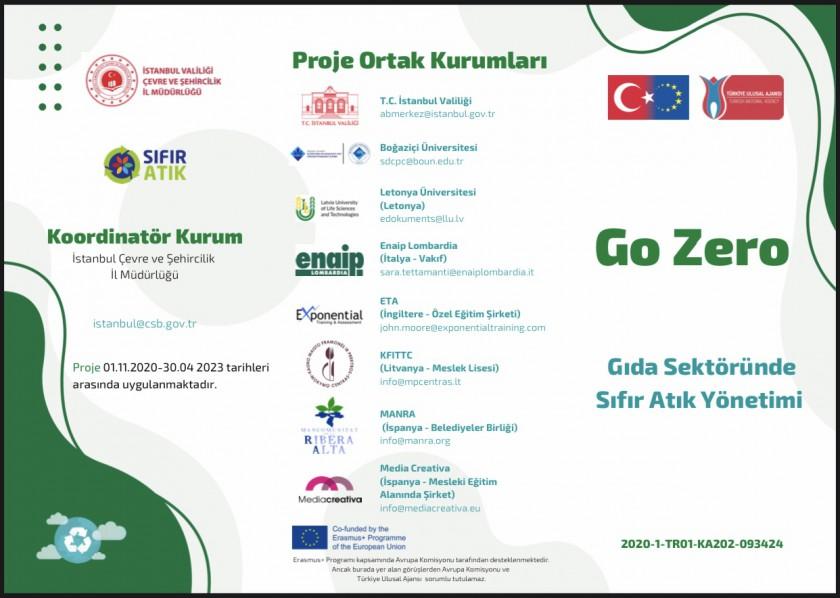 """""""GO ZERO-ZERO WASTE MANAGEMENT IN FOOD SECTOR"""" projemiz Dışişleri Bakanlığı Avrupa Birliği Başkanlığınca kabul edildi."""