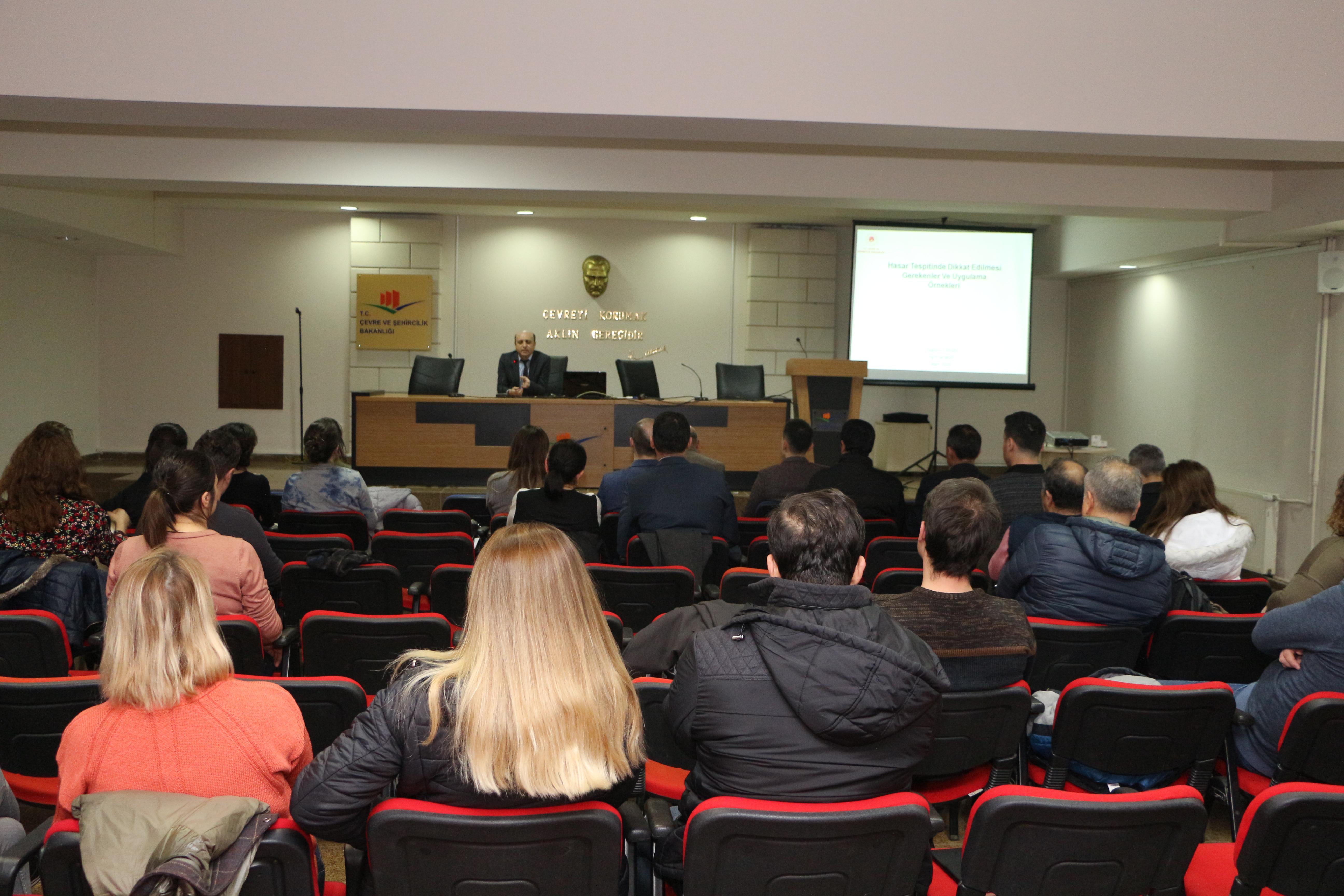 Belediye Teknik Personeline Yönelik Hasar Tespit Eğitimi Düzenlenmiştir.