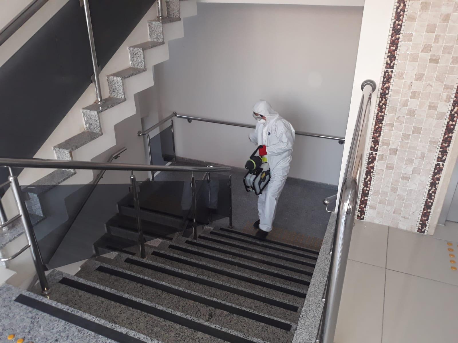 İl Müdürlüğümüzde Koronavirüse Karşı Dezenfeksiyon Çalışması..