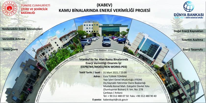 İstanbul'da Yer Alan Kamu Binalarında Enerji Verimliliği Onarımı İşi (EEPB/WB/MOEU/REN-WORKS-P03)  ihale Duyurusu