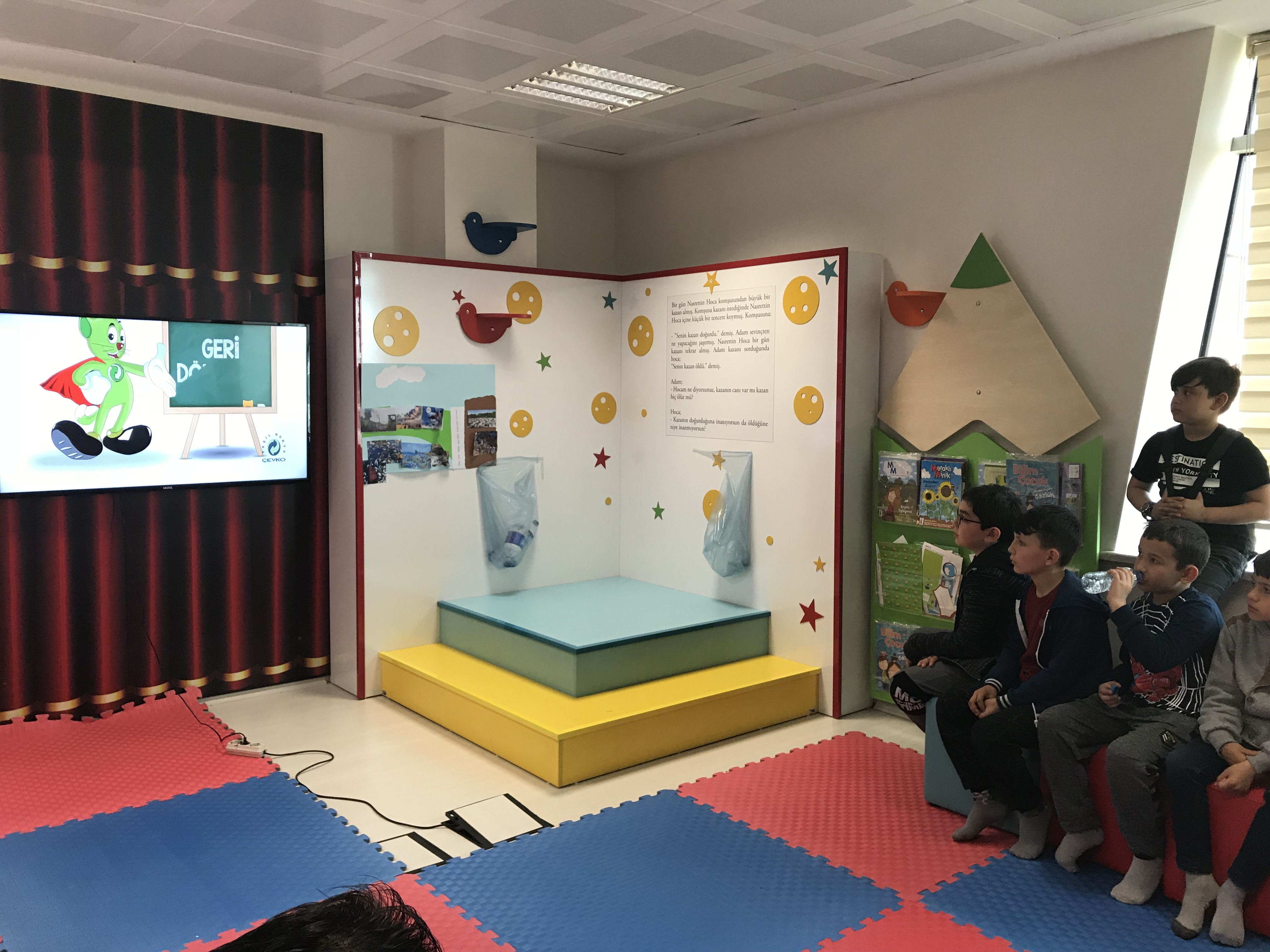 """""""Lider Tarım Çocuk Kampı"""" programı kapsamında İl Tarım ve Orman Müdürlüğü yetkilileri, Mehmet Akif İlkokulu 4.sınıf öğrencileri ve öğretmenleri Müdürlüğümüzü ziyaret ettiler"""