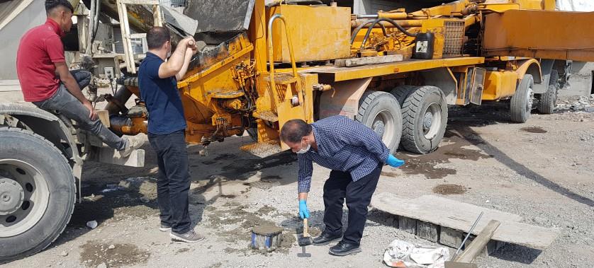 Kars  Çevre ve Şehircilik İl Müdürlüğümüz Yapı Denetim ve Yapı Malzemeleri Şube Müdürlüğü Personellerimizce Beton Firmalarına Denetim çalışmaları yapılmıştır.