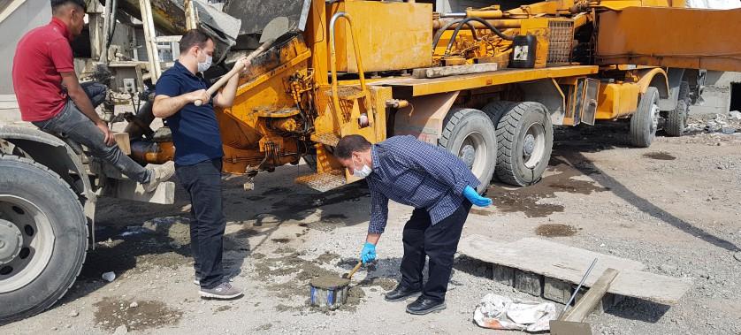 Kars  Çevre ve Şehircilik İl Müdürlüğümüz Yapı Dnetim ve Yapı Malzemeleri Şube Müdürlüğü Personellerimizce Beton Firmalarına Denetim çalışmaları yapılmıştır.