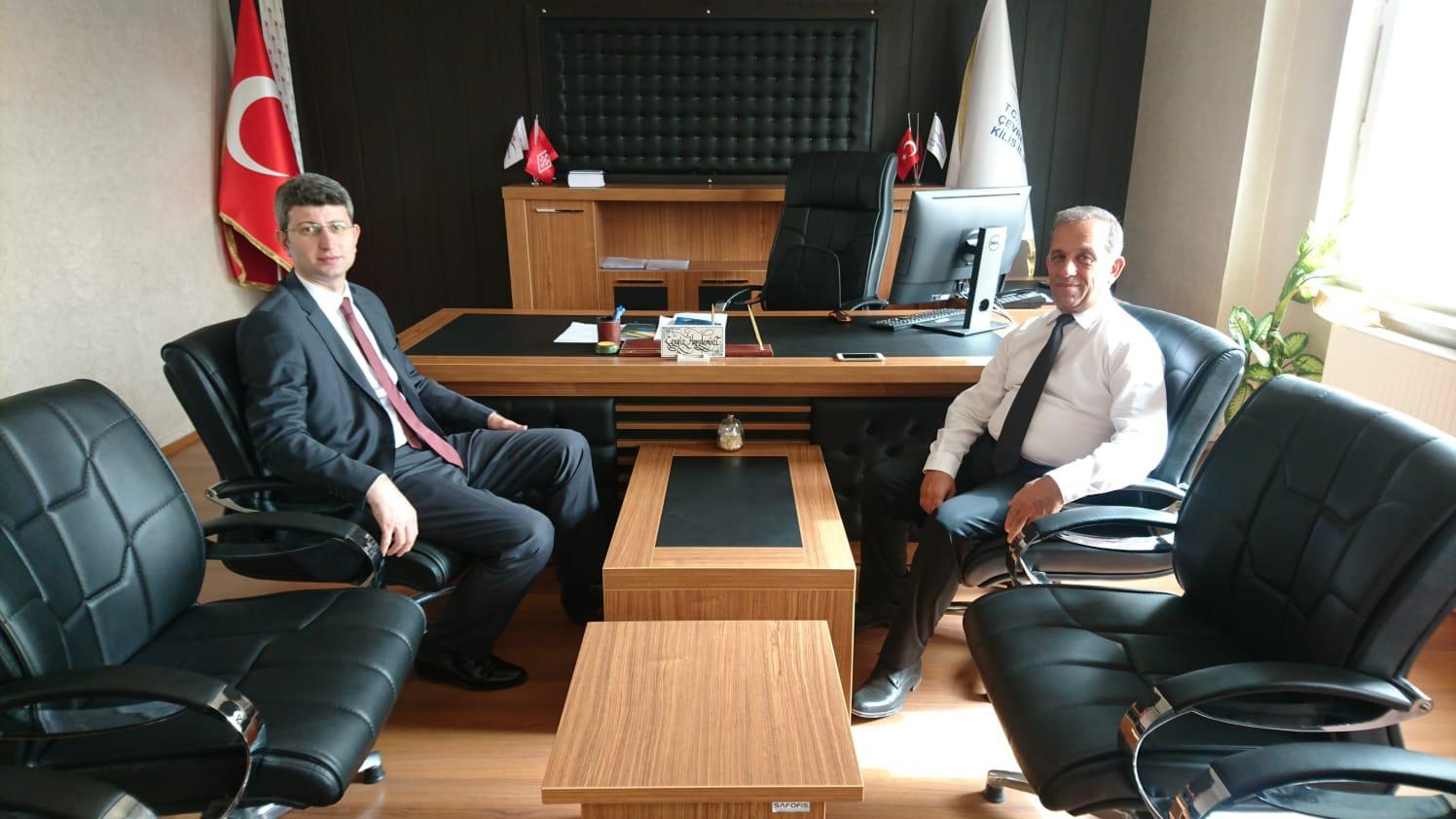 Polateli Kaymakamı Mahmut ŞENER den ziyaret