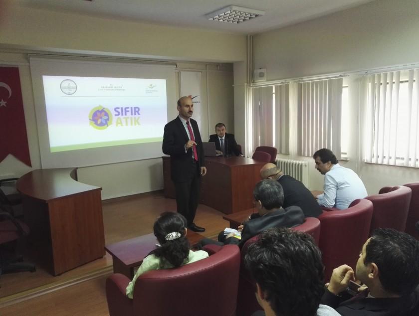 İl Müdürlüğümüzde Sıfır Atık İle İlgili Bilgilendirme Toplantısı Yapıldı