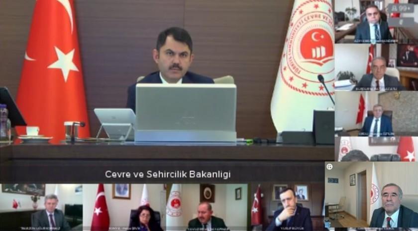 Sayın Bakanımız Murat KURUM'un Başkanlığında Telekonferans Sistemi ile Koordinasyon Toplantısı Gerçekleştirildi.