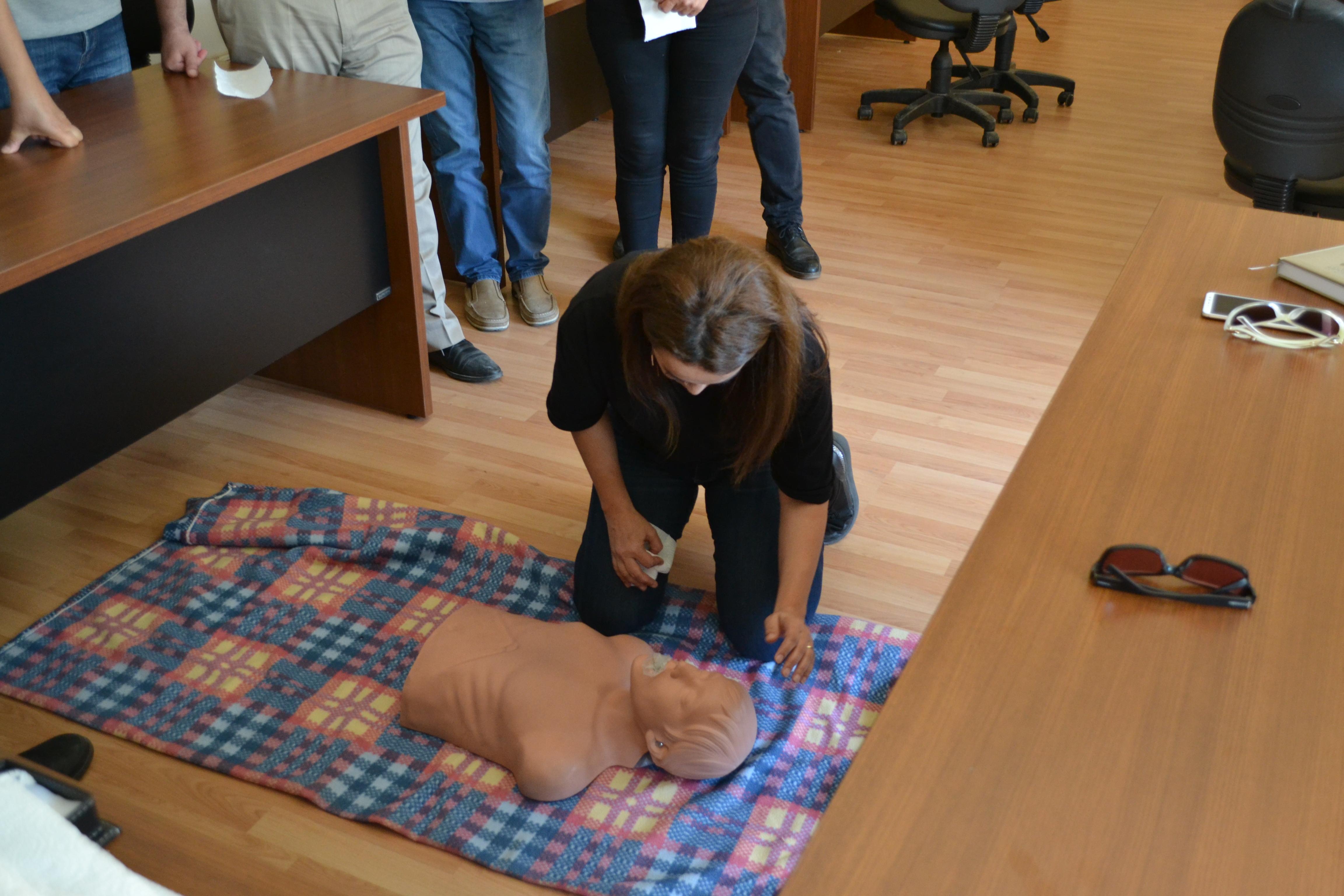 İl Müdürlüğümüzde İş Güvenliği ve Sağlığı kapsamında  ilk yardım kursu yapılmıştır