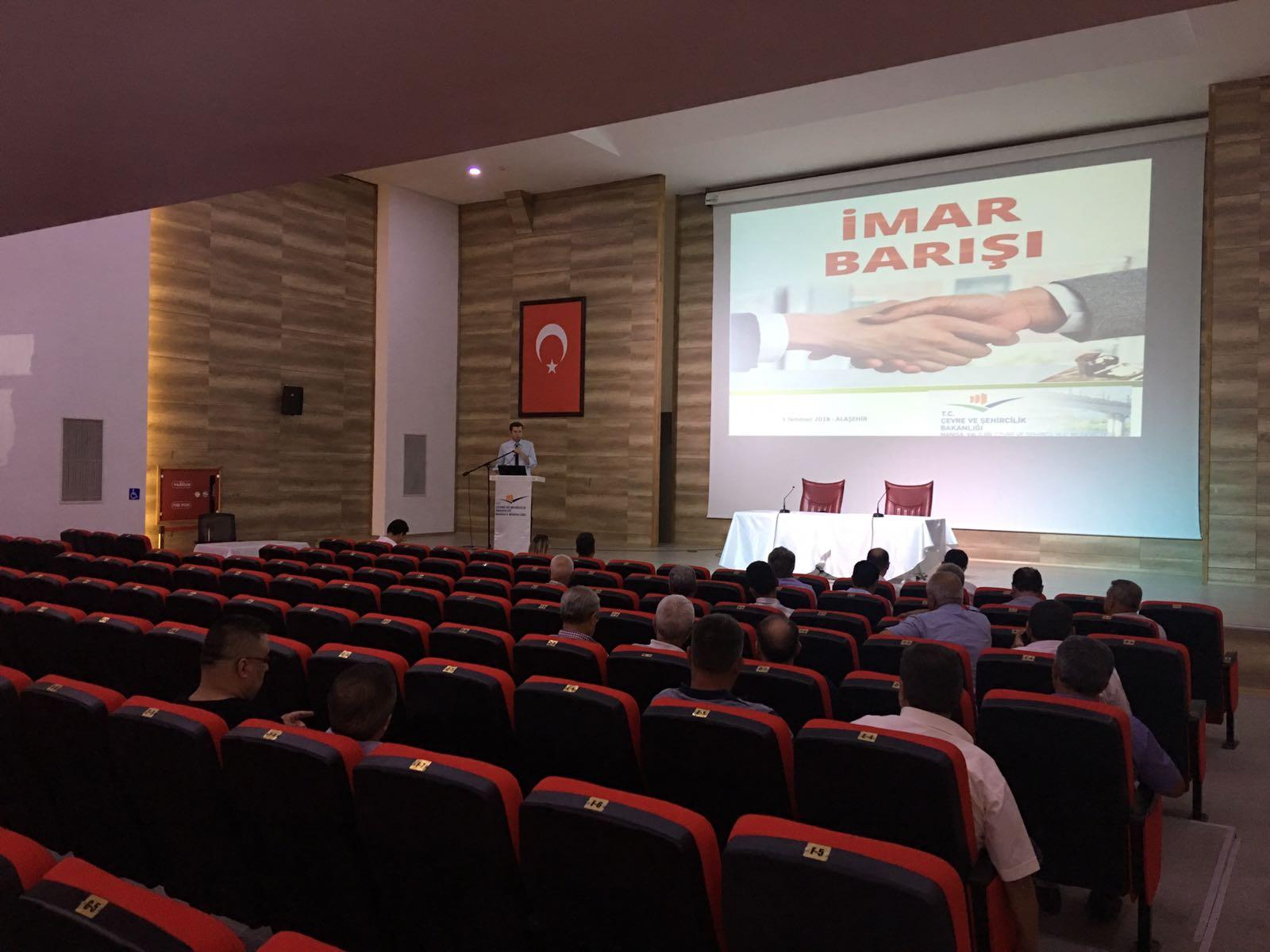 İmar Barışı: Alaşehir İlçesinde Bilgilendirme Toplantısı Düzenlendi