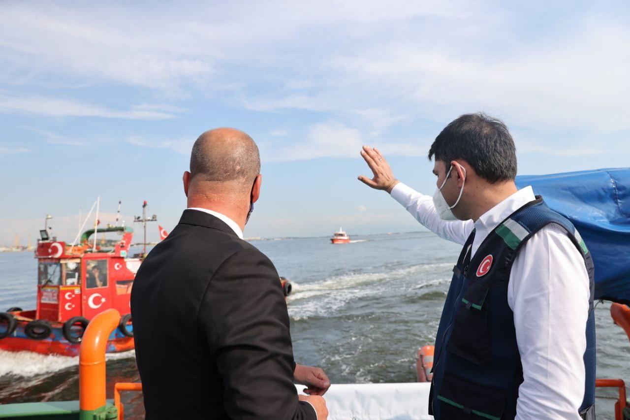 Bakan Kurum'dan dikkat çeken müsilaj açıklaması: 'Marmara Denizi'ni kısa sürede eski haline getireceğiz'