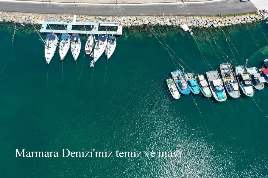 Marmara Denizi'miz temiz ve mavi