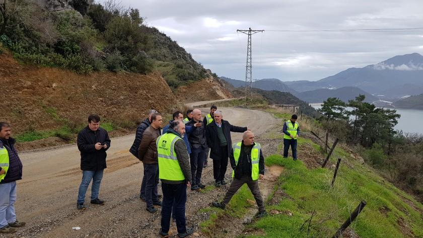 Anamur Alaköprü İskan Yerleşkesi 2. Etap Tarımsal Araziler Oluşturulması işinde incelemeler yapıldı.