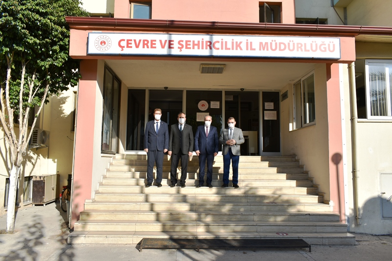 Dr. Sinan BAHÇACI İl Sağlık Müdürü, Dr. Şaban KONDİ Mersin İl Müftüsü, Mustafa KUTLU Mersin ÇalışmaVeİşKurumuİlMüdürü, İl Müdürlüğümüz Ziyaretleri