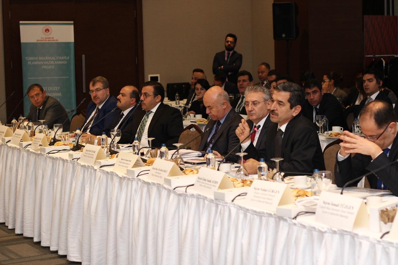 Türkiye Mekânsal Strateji Planı 2. Üst Düzey Yönlendirme Toplantısında, Planın Vizyon, Öncelikler ve Mekânsal Gelişme Senaryosu görüşüldü.