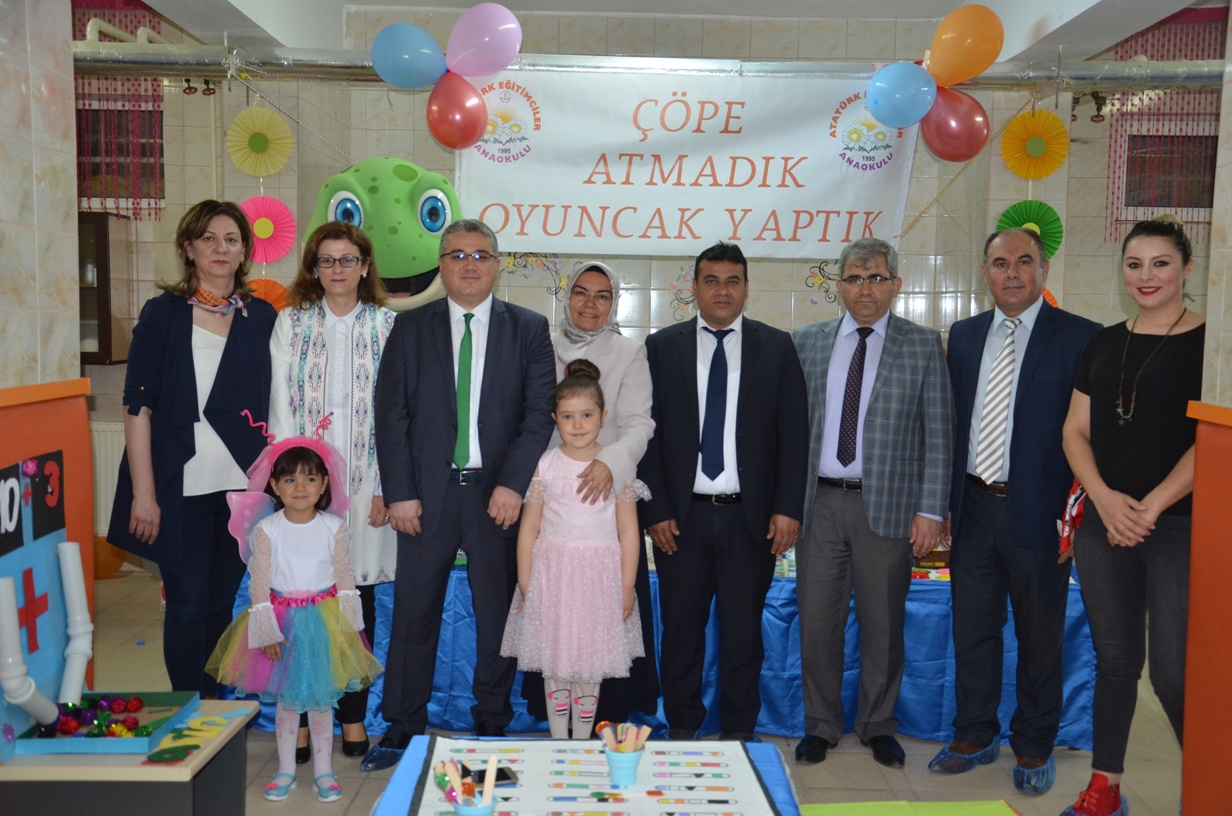 Atatürk Eğitimciler Anaokulu Çöpe Atmadı Oyuncak Yaptı