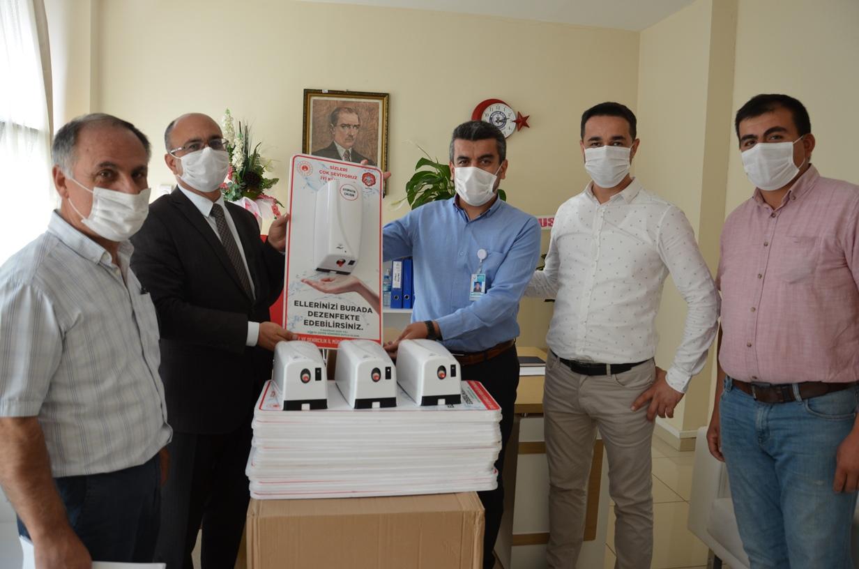 İl Müdürlüğümüzce Kurumlarımıza Dezenfektan Makineleri Hediye Edildi