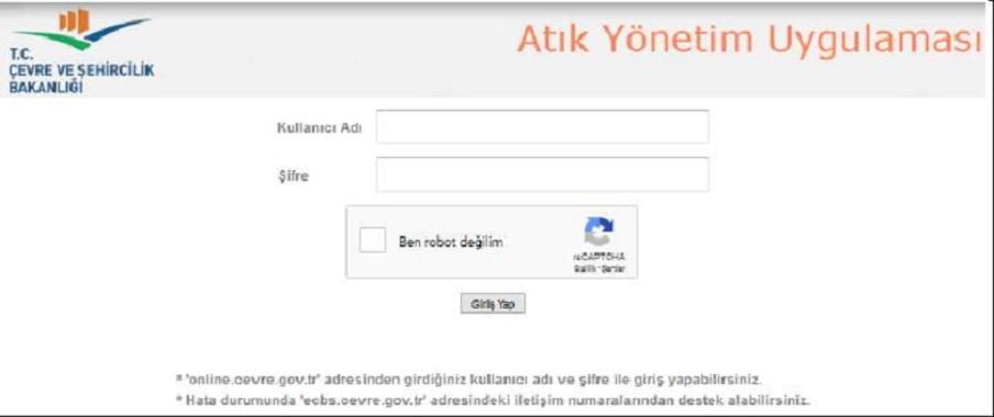 Atık Yönetim Uygulaması (TABS/MOTAT/KDS)