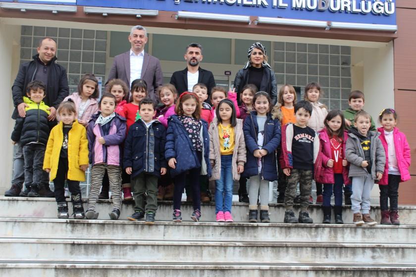 Yalçın Çelebi Anaokulu Öğrencilerinin Müdürlüğümüze Ziyareti