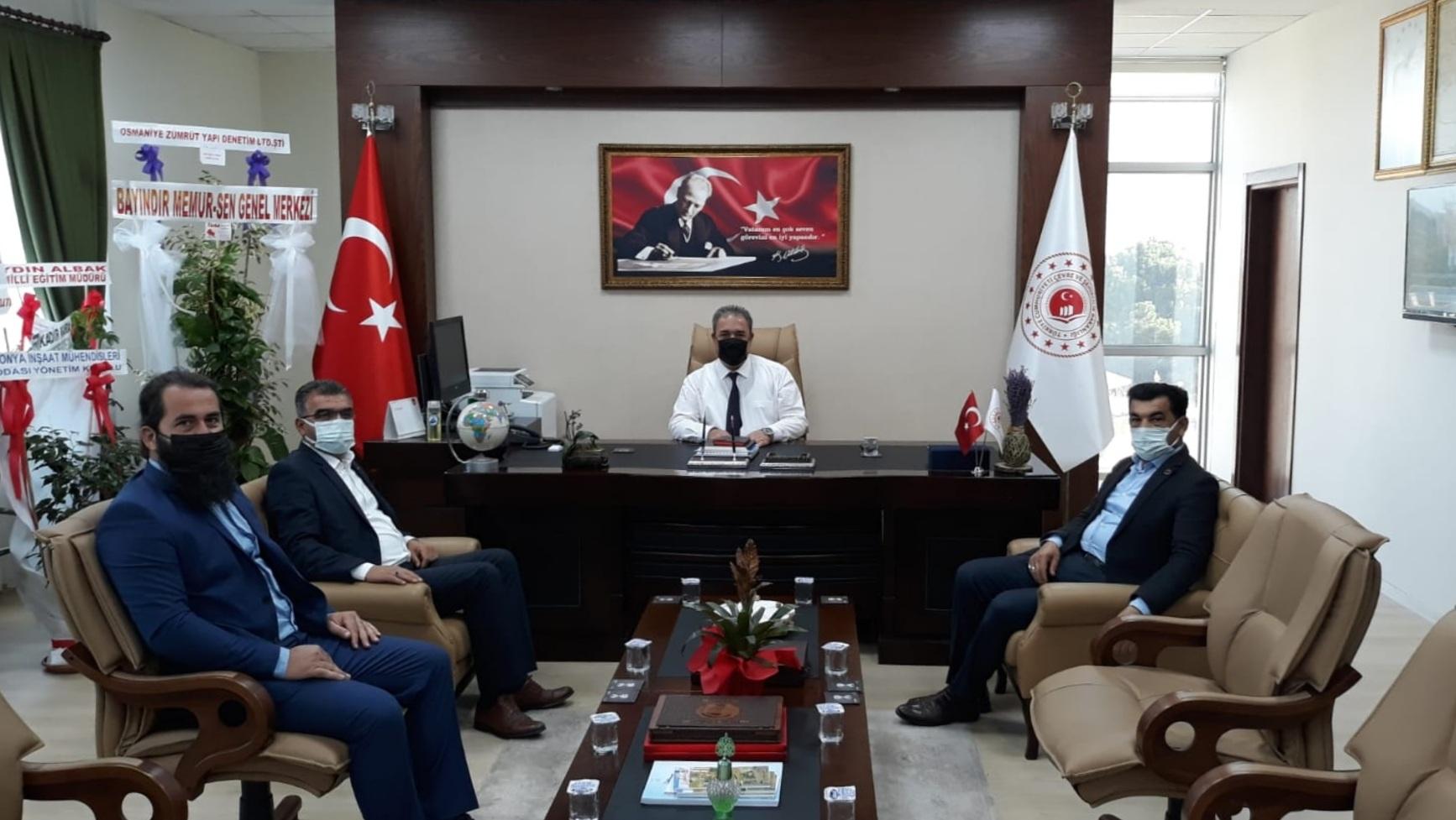 Cevdetiye Belediye Başkanı Mehmet ÖZER, CevdetiyeAK Parti BeldeBaşkanı İsmail KELEŞ ve Türker BOLATİl…