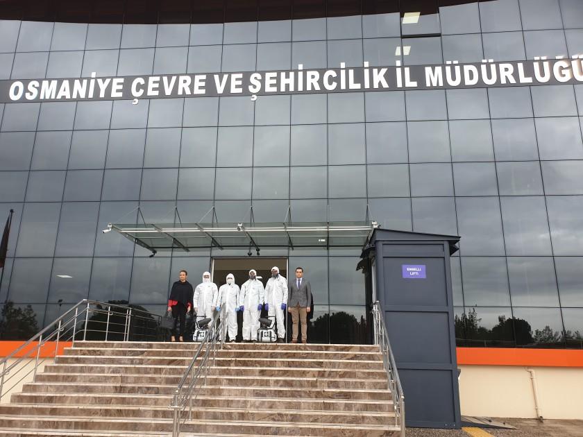 Korona Virüse karşı İl Müdürlüğümüz dezenfekte edildi