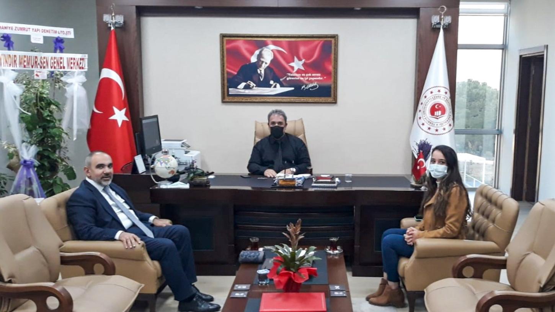 Geçmiş Dönem Osmaniye AK Parti İl Başkanı Av. Hamza TOR İl Müdürümüz İrfan Remzi YILMAZ'ı ziyaret etti.