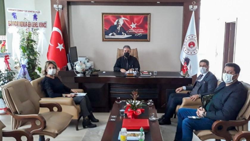 Osmaniye Organize Sanayi Bölge Müdürü Musa GÖNÜL İl Müdürümüz İrfan Remzi YILMAZ'ı ziyaret etti.