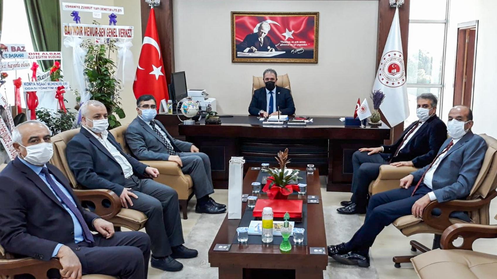 Osmaniye PTT Başmüdürü Abdulkadir DAĞDEMİR, Türktelekom İl Müdürü Tayfun CÜNDEİOĞLU, İl Sivil Toplumla…