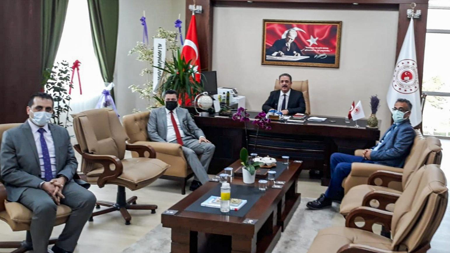 Osmaniye Korkut Ata Üniversitesi Rektörü Prof. Dr. Turgay UZUN İl Müdürümüz İrfan Remzi YILMAZ'ı ziyaret…