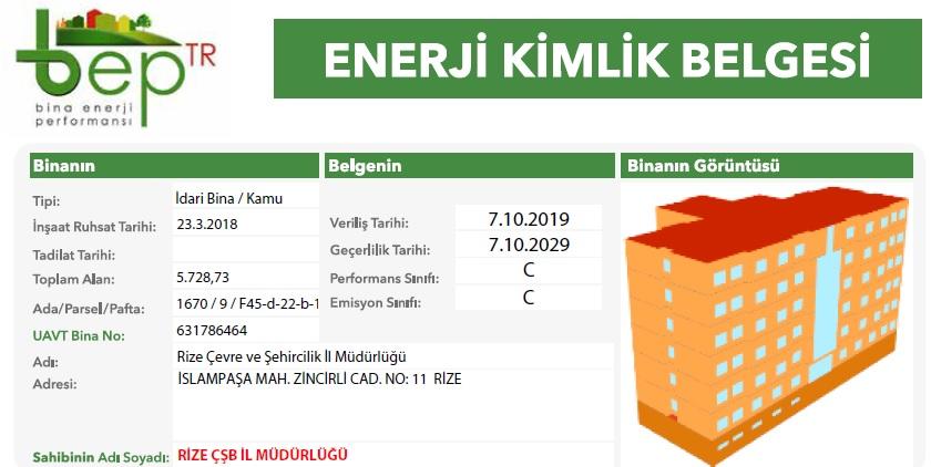 ENERJİ KİMLİK BELGESİ