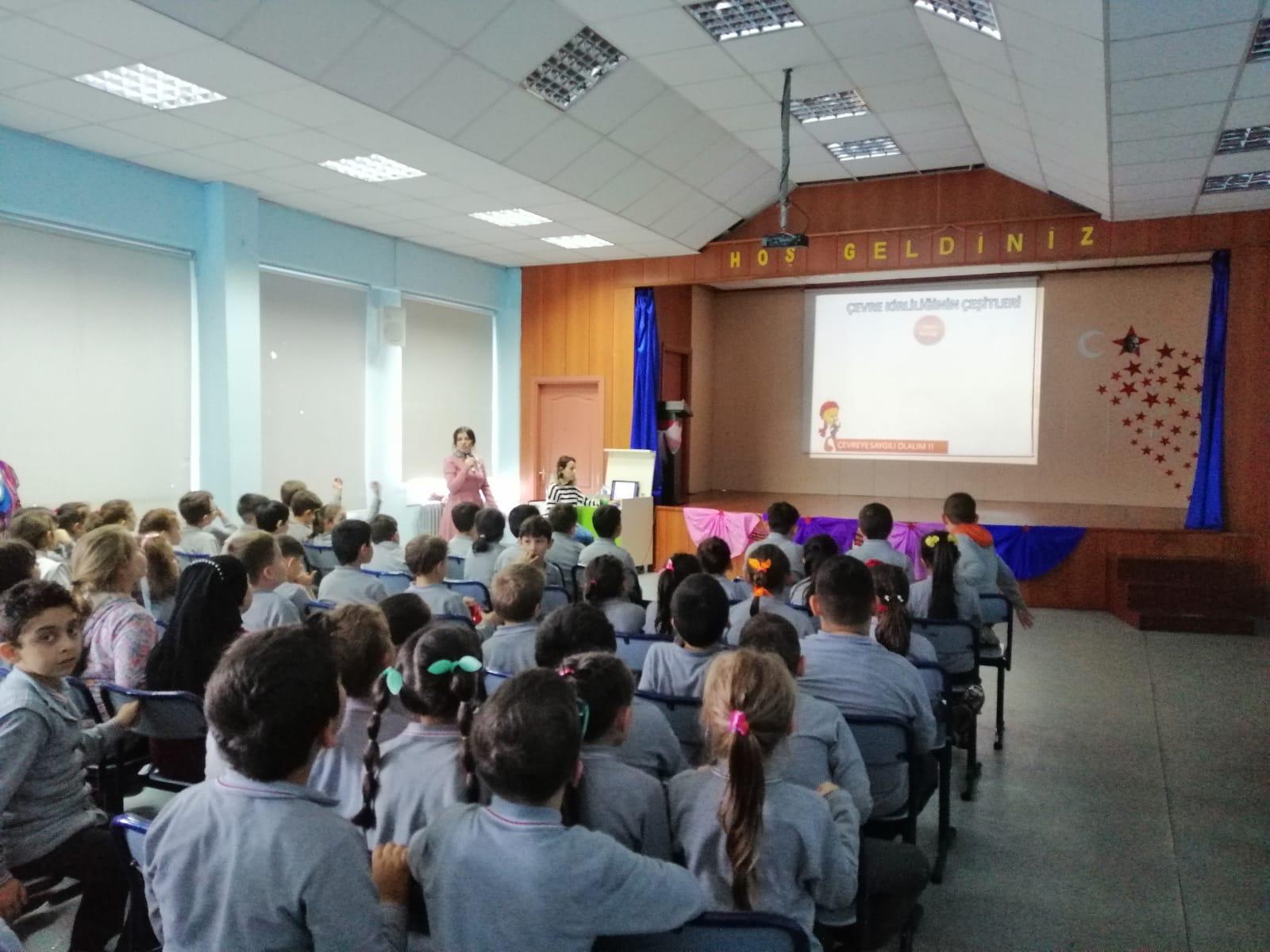 """""""Rize Senin"""" Projesi Kapsamında Şevket Yardımcı İlkokulunda Çevre ve Sıfır Atık Eğitimi"""