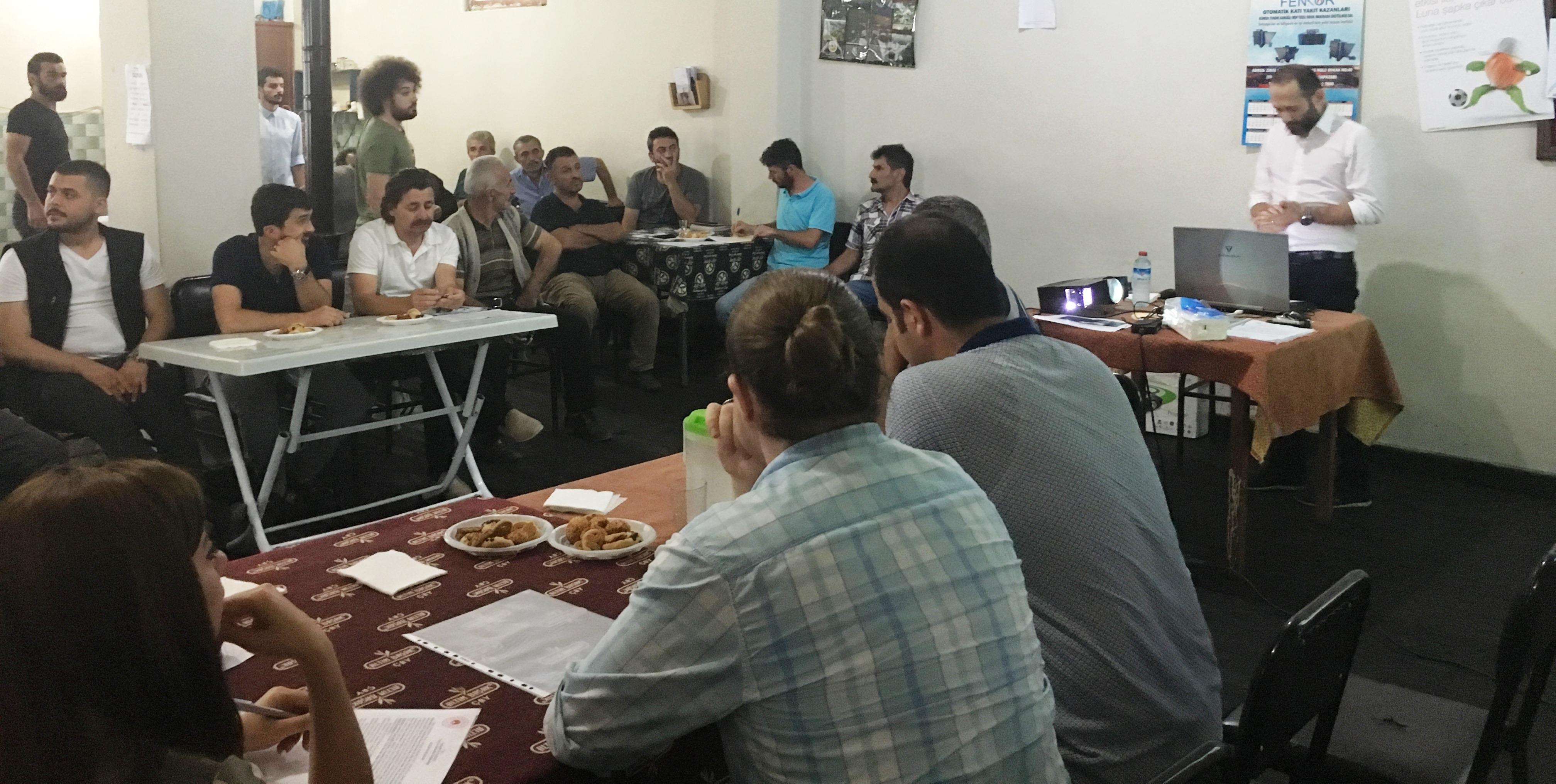 Kanlıçay Mahallesinde, Halkın katılım Toplantısı!