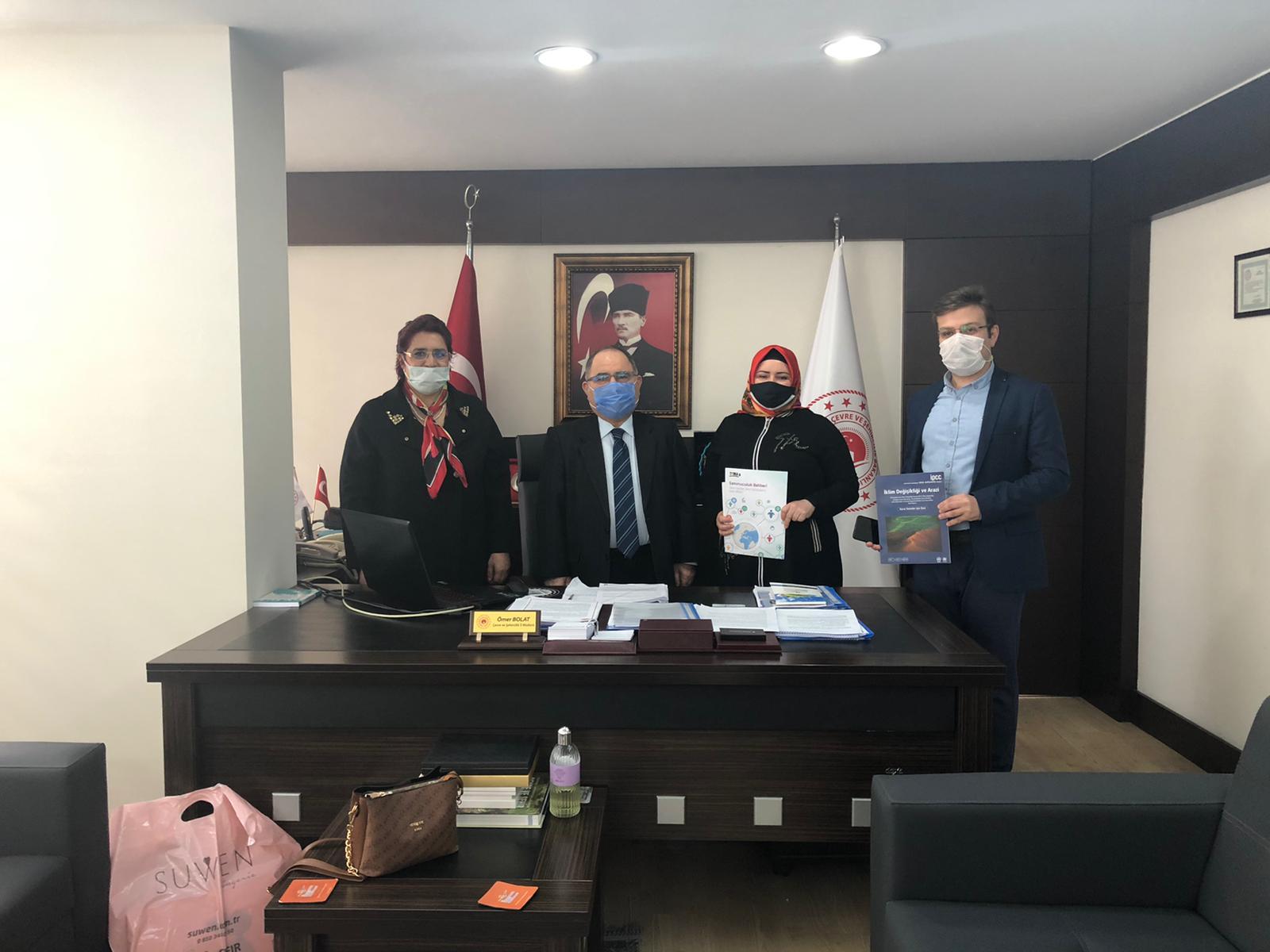 TEMA Vakfı Samsun İl Temsilcisi ve Yönetim Kurulu Üyeleri İl Müdürlüğümüzü ziyaret etmiştir.