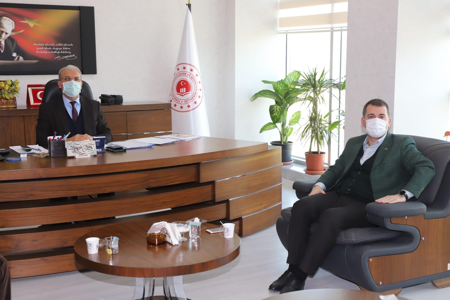 Karaköprü belediye başkanlığından il müdürümüze ziyaret