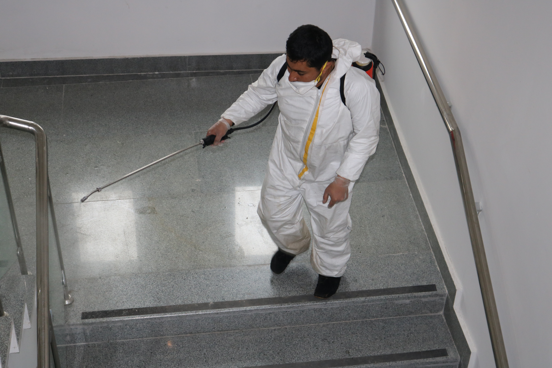 Müdürlüğümüz'de Dezenfekte çalışması yapıldı