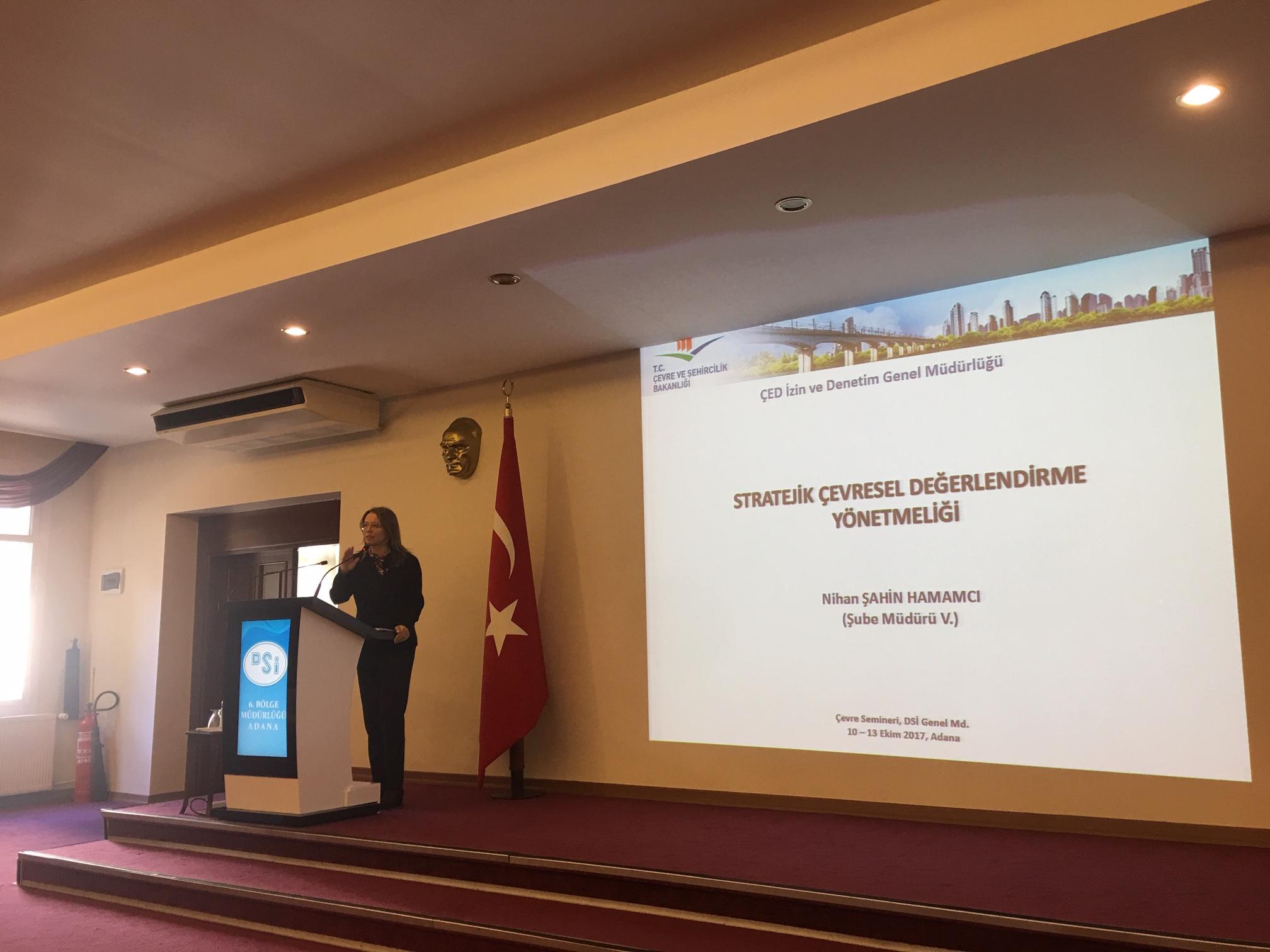 Devlet Su İşleri Genel Müdürlüğü (Adana) Hizmet İçi Eğitim Programında SÇD ve ÇED Yönetmelikleri Sunumu Yapılmıştır.